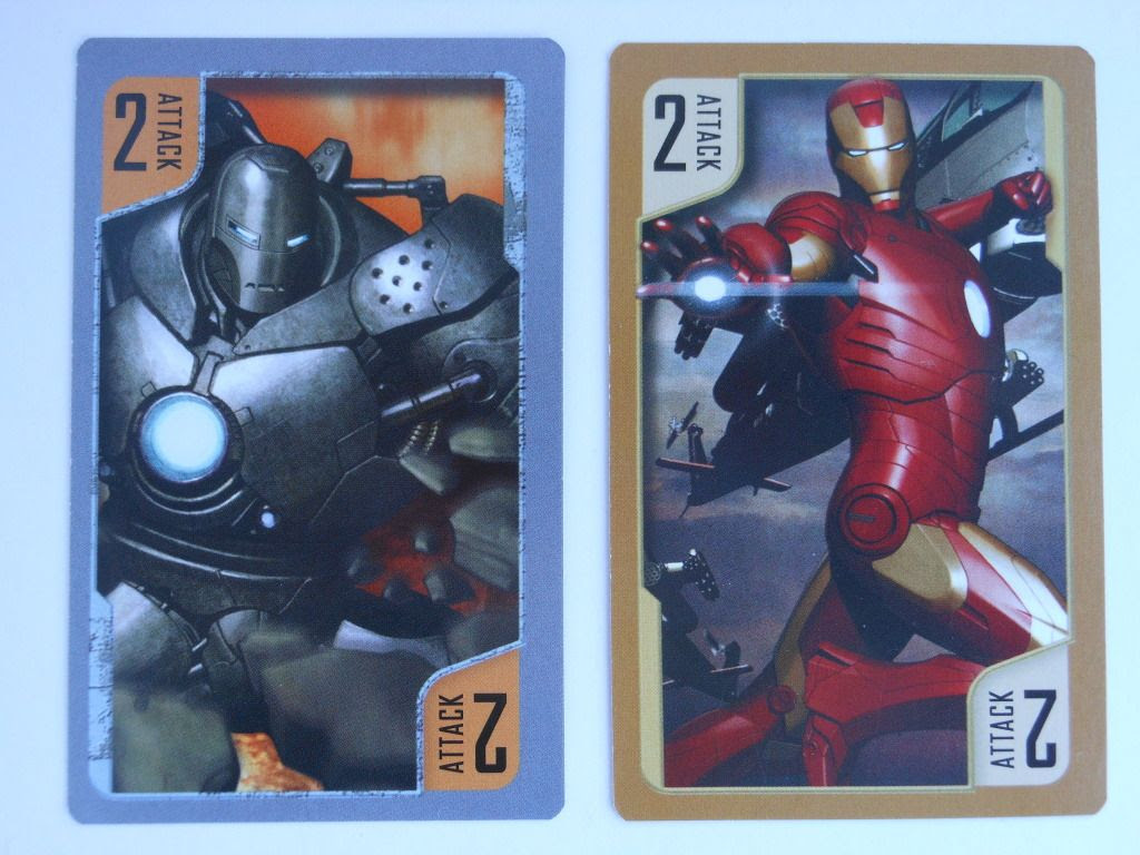 Iron Man Battling Card Game example cards