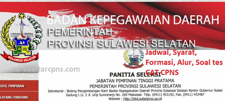 Jadwal Pendaftaran CPNS Pemprov Sulsel 2021 Lulusan SMA ...