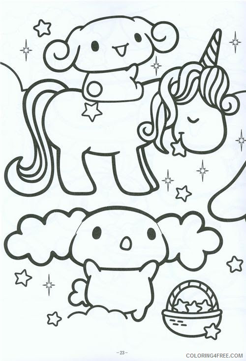 Coloring Pages For Kids Kawaii - Drawing With Crayons