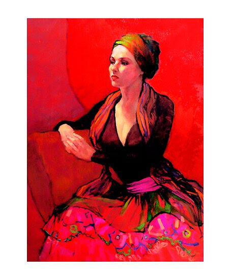Oil Paintings: The Gypsy Skirt by Roz McQuillan
