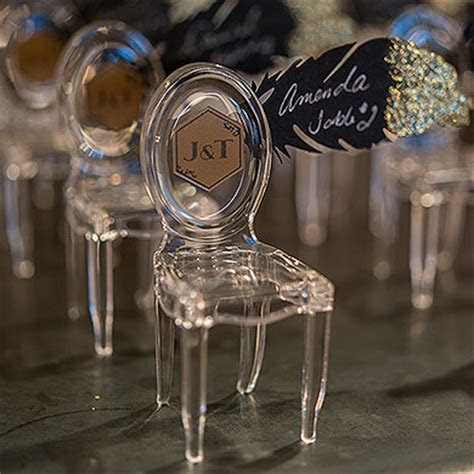 Miniature Clear Acrylic Phantom Chairs   The Knot Shop