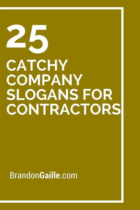 25 Catchy Company Slogans For Contractors   Company slogans