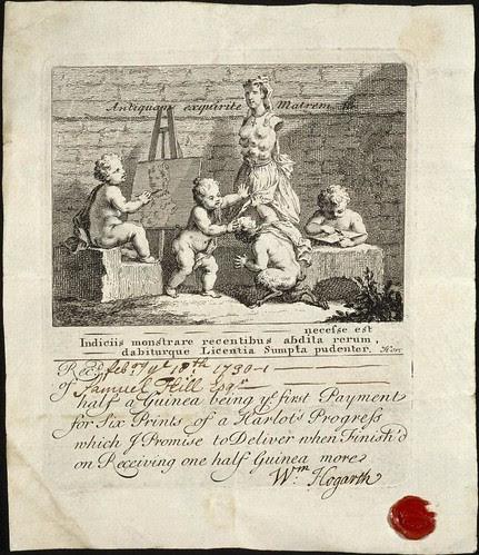 'Boys Peeping at Nature' subscription ticket (Hogarth 1730) Rylands