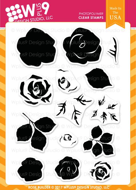Wplus9 Rose Builder Stamp Set