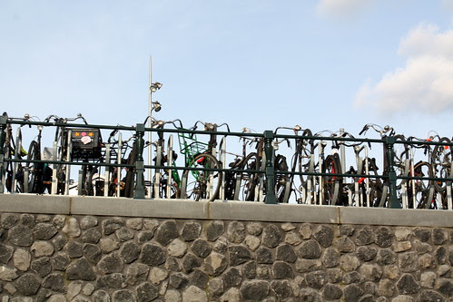 geparkeerde fietsen