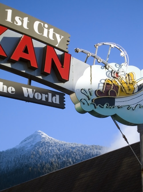 right side, Ketchikan sign, Alaska