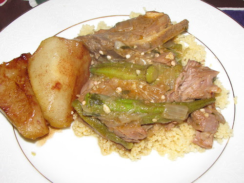Lamb, okra, and quince