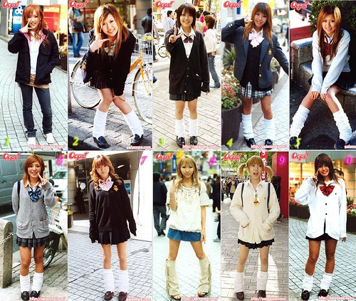 Japanese school girl fashion