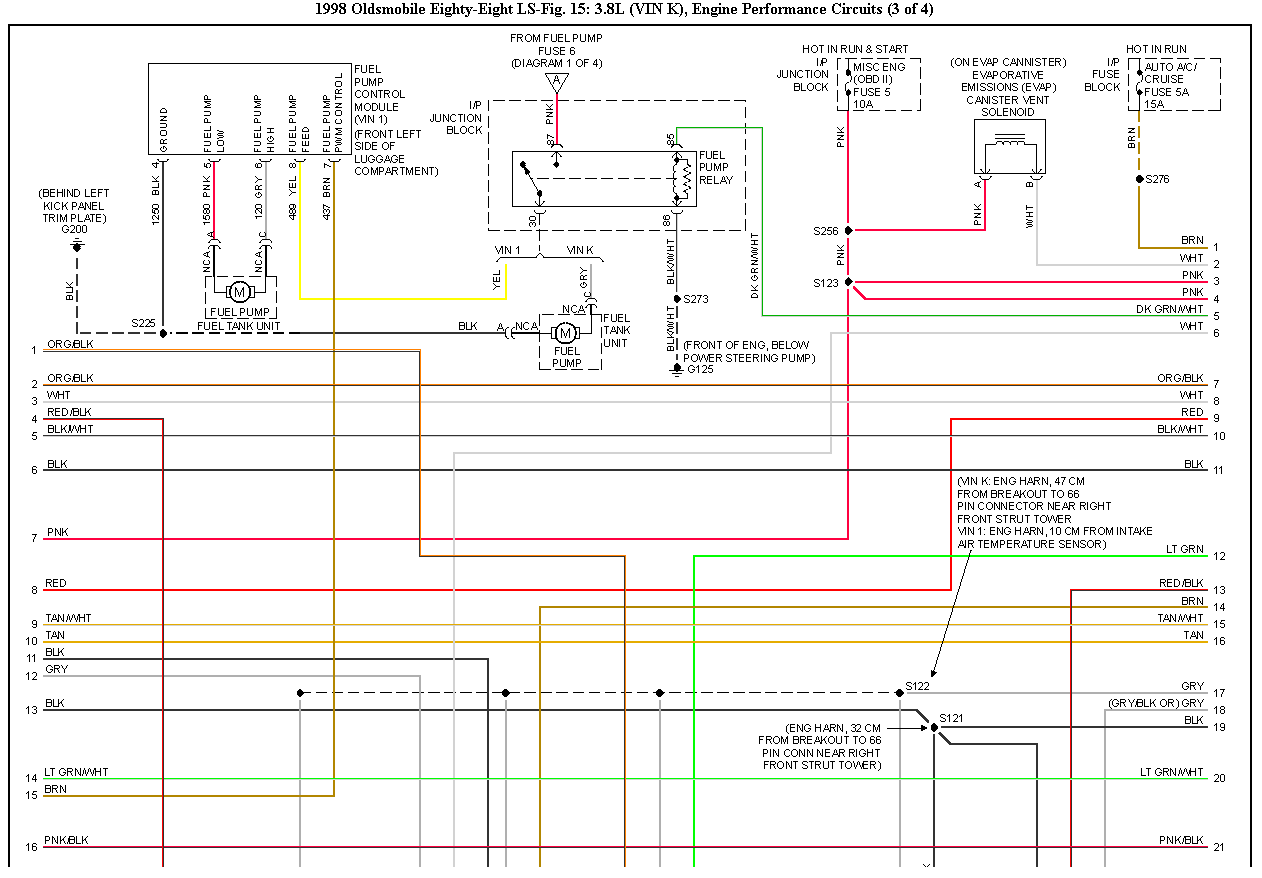 I believe the thing I need is a wiring diagram for a 1998 ...