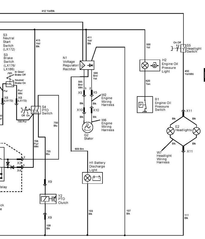 John Deere L110 Electrical Schematic