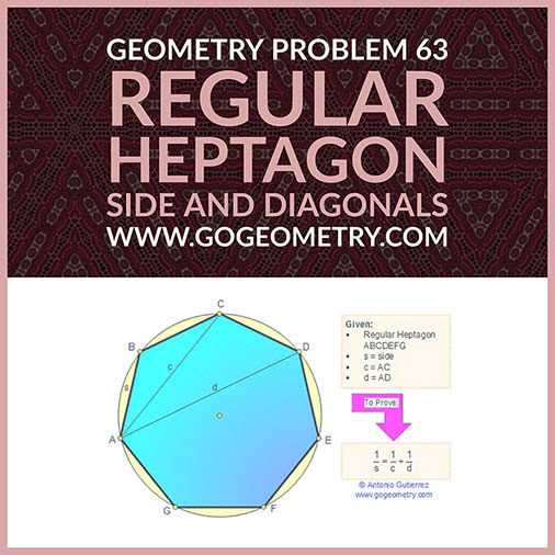 Geometric Art Typography of Geometry Problem 63: Parallelogram, Diagonal, Midpoint, Side, Triangle, Parallel, Similarity, iPad Apps.