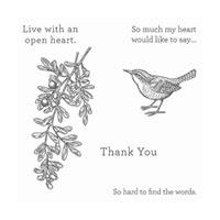 An Open Heart Wood-Mount Stamp Set
