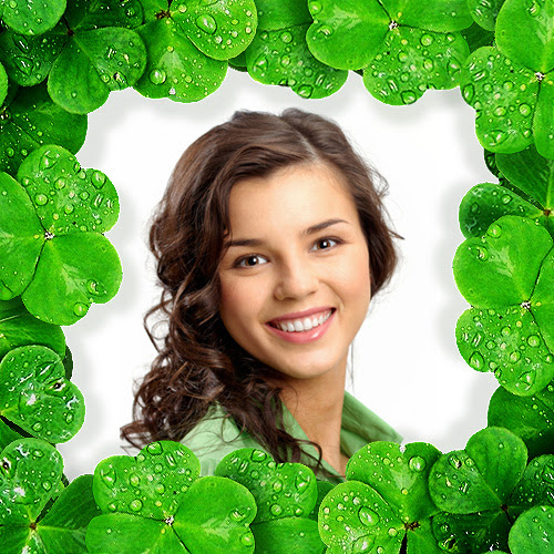 Green Shamrock Photo Frame An Irish Decoration For Your Pic