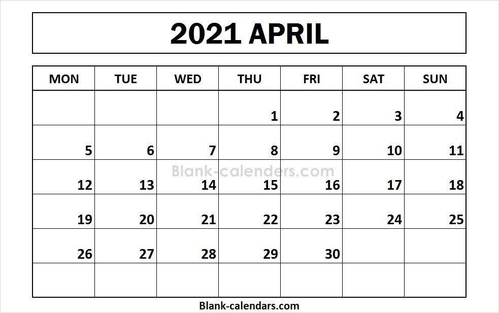 April 2021 Calendar Templates   2021 Calendar