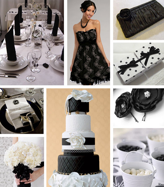 Googled for black and white wedding motifs and there are several in various