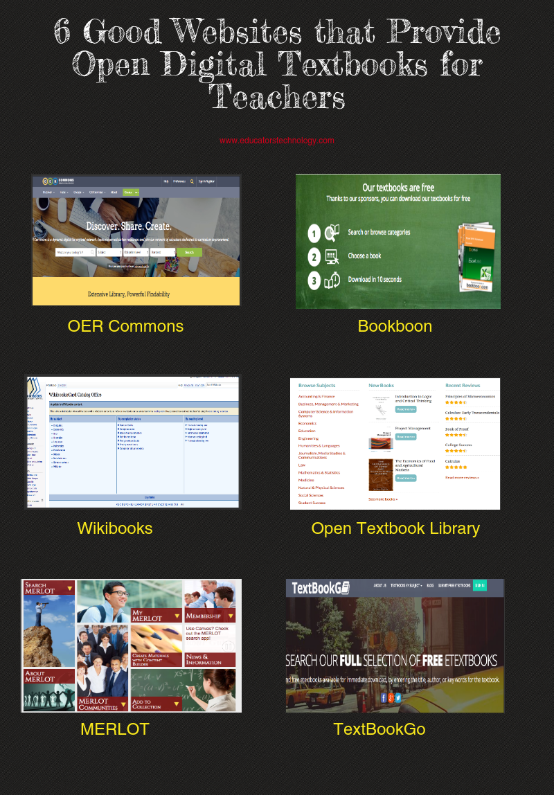 6 Good Websites that Provide Open Digital Textbooks for Teachers