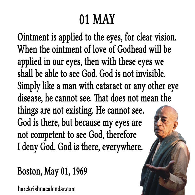 Prabhupada Quotes For The Month Of May 01 Spiritual Quotes By