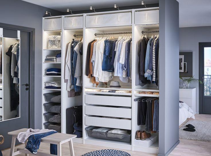 schlafzimmer ikea pax  begehbarer kleiderschrank – planen