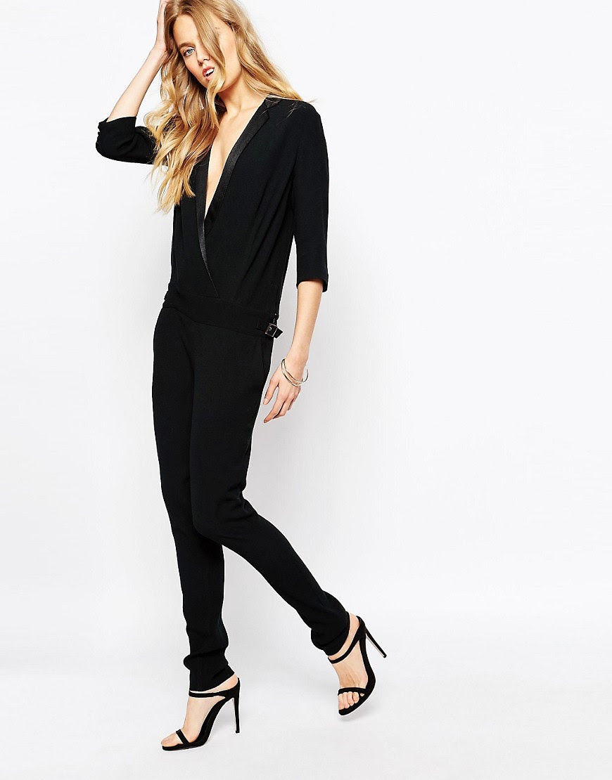 Image 1 of BA&SH Hopper Jumpsuit With Tuxedo Detailing