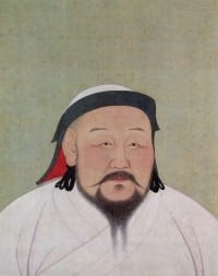 A portrait of Khubilai Khanm First Emperor of the Yuan Dynasty