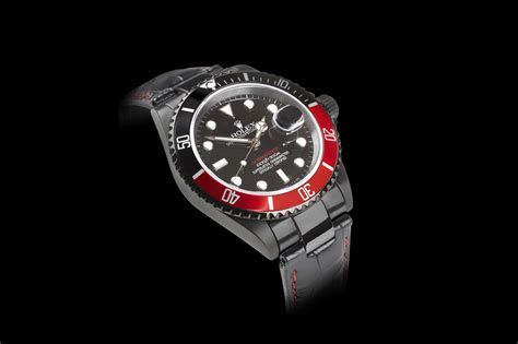 Black And Red Rolex Watch   Mac Heat