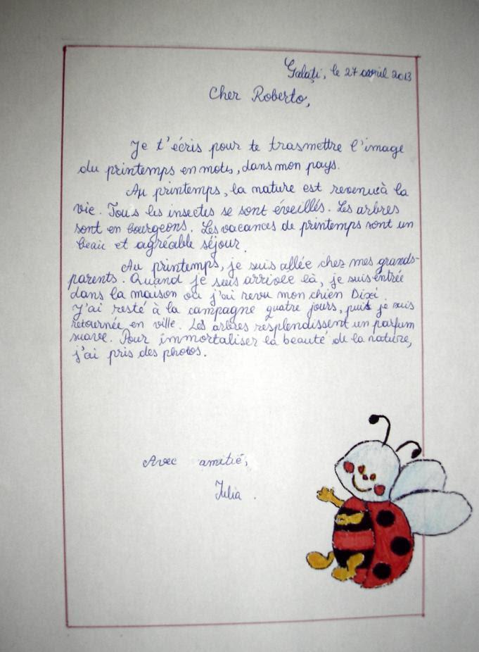 Lettre Pour Ma Fille En Classe Verte - Exemple de Lettre
