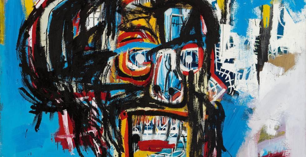 El lienzo sin título del artista Jean-Michel Basquiat