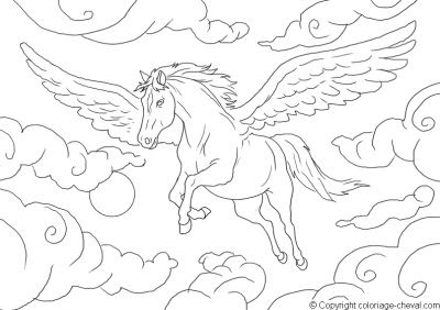 Coloriages Cheval Page 1 Animaux