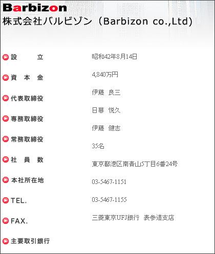 http://www.barbizon.co.jp/company_profile/