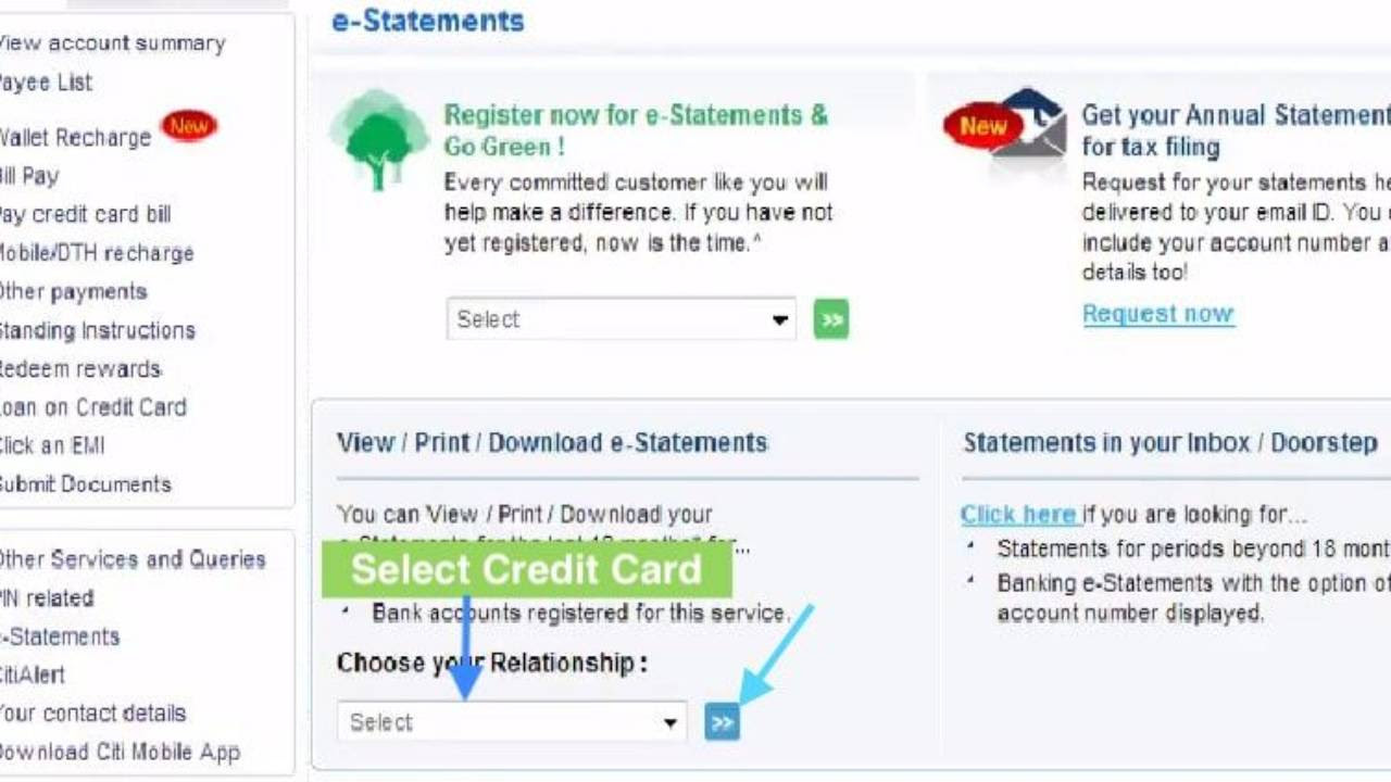 How to Download Citibank Credit Card Statement Online