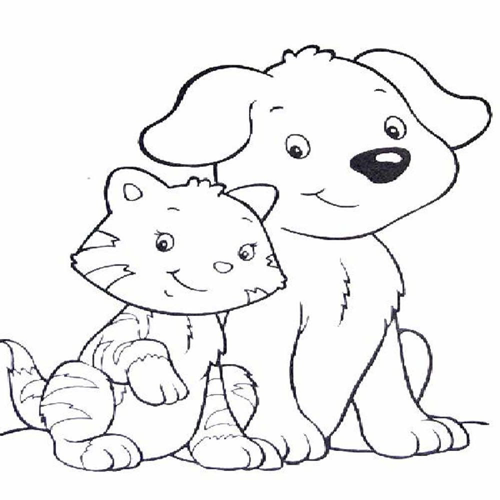 Free Coloring Pages Dog And Kat - Coloring Home