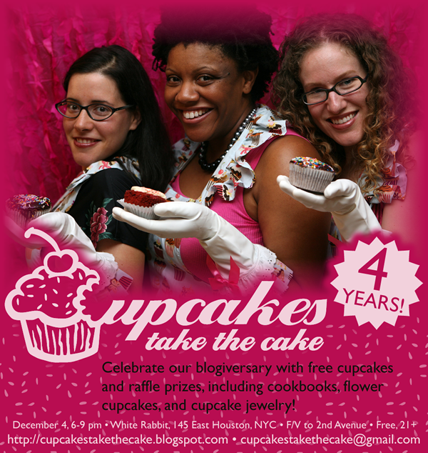 Cupcakes Take the Cake's 4-year Blogiversary Party