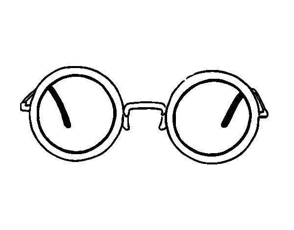gafas redondas modernas colorear