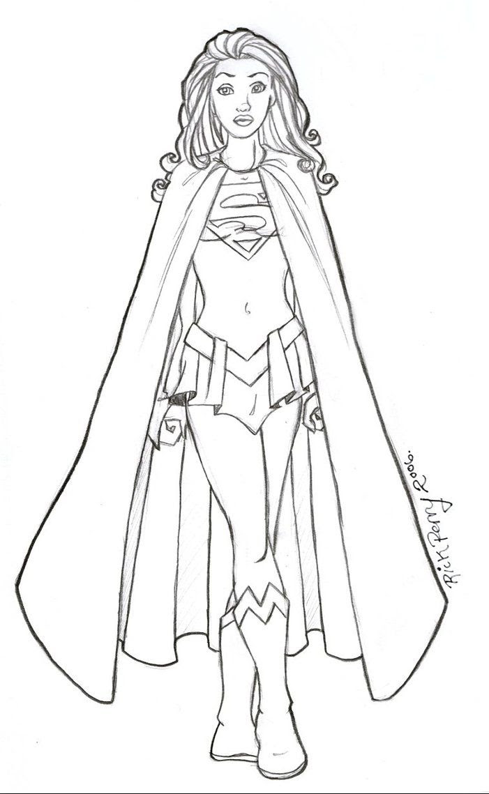 Download Supergirl Printable Coloring Pages - Coloring Home