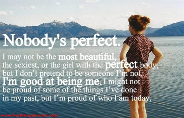 Nobodys Perfect I May Not Be The Most Beautiful The Sexiest Or