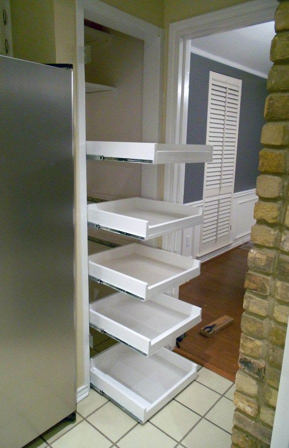 DIY tutorial for pull out shelves | Something I would love ...