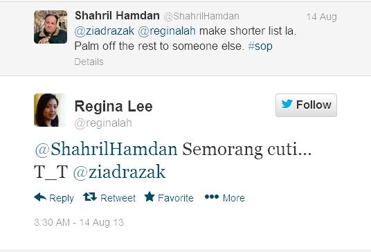 reginalah ShahrilHamdan Semorang cuti