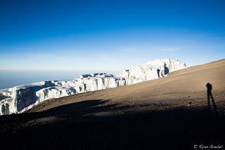 A Glacier and My Shadow