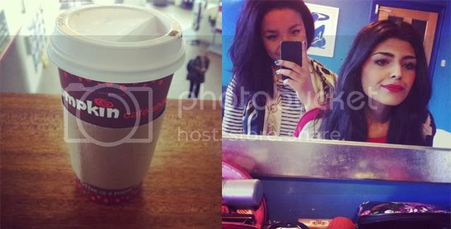 cuppa, pumpkin cafe, trains, shewearsfashion, fashiontrain