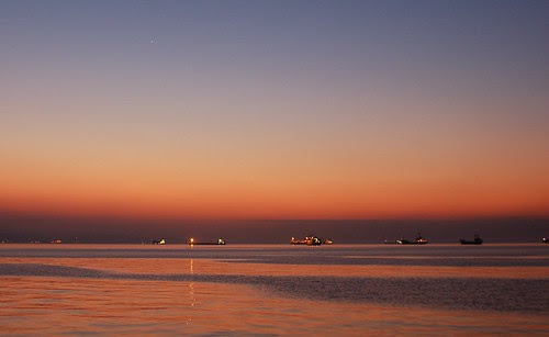 the sea before sunrise