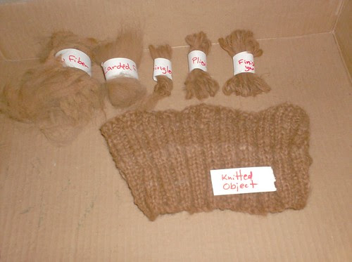 Stages of fiber spinning knitting yarn caramel fawn alpaca spindle