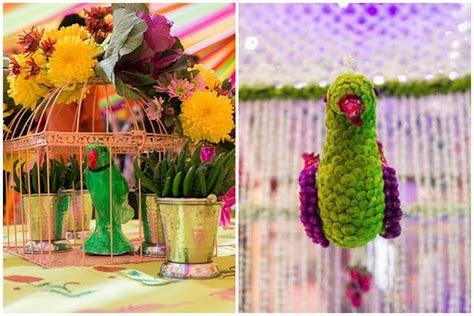 #Trending: Parrot Motifs At Weddings!   WedMeGood