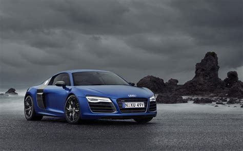 Audi R8 V10 Blue Car wide Wallpaper Wallpapers   New HD Wallpapers