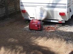 Honda generator at work