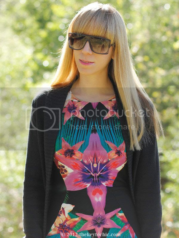 Lipsy tropical dress, Marni at H&M sunglasses, southern California fashion, Los Angeles style