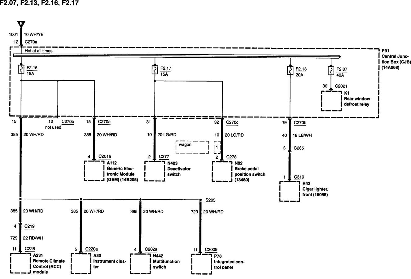 35 2002 Mercury Sable Fuse Diagram