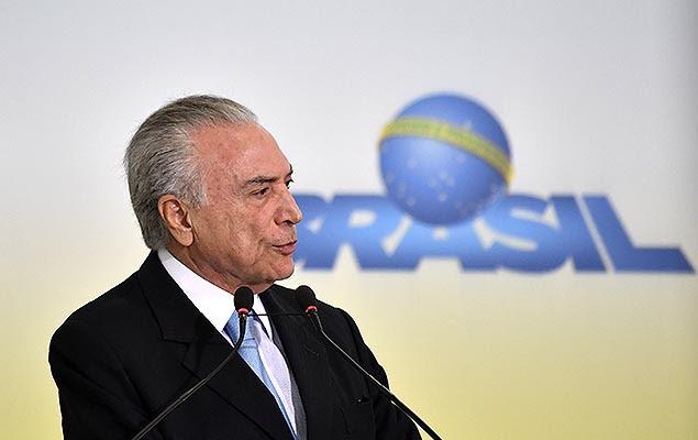 O presidente Michel Temer (PSDB) no lançamento do Plano Safra da Agricultura Familiar 2017/2020, em Brasília, nesta quarta