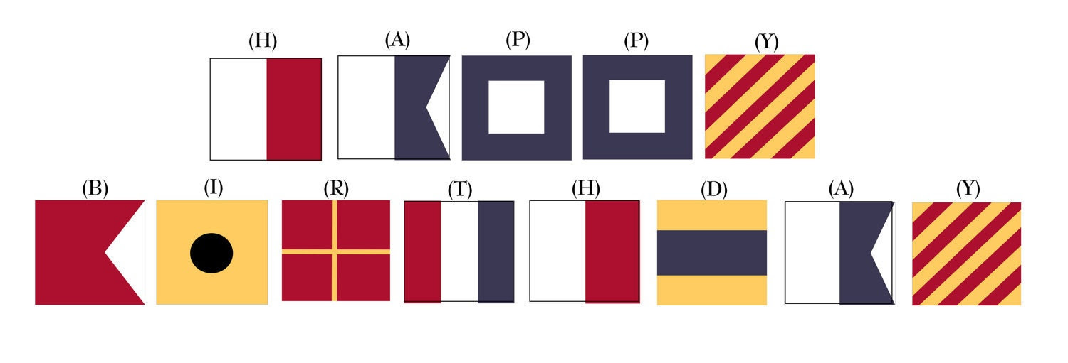 Printable Nautical Signal Flag Banner Letters by WhenIWasYourAge