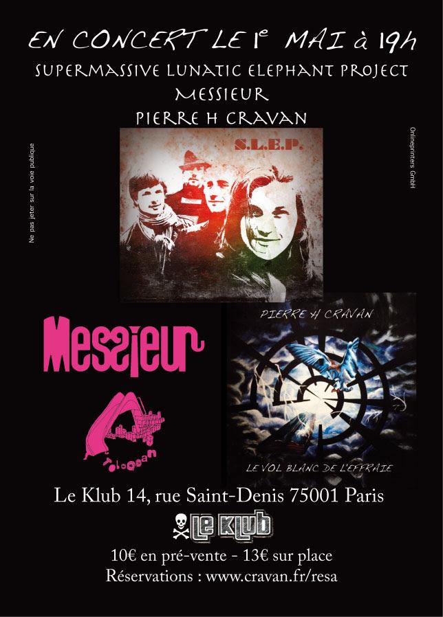 Affiche 31 mars 2011 Le Klub Cravan Isabe John Fizz