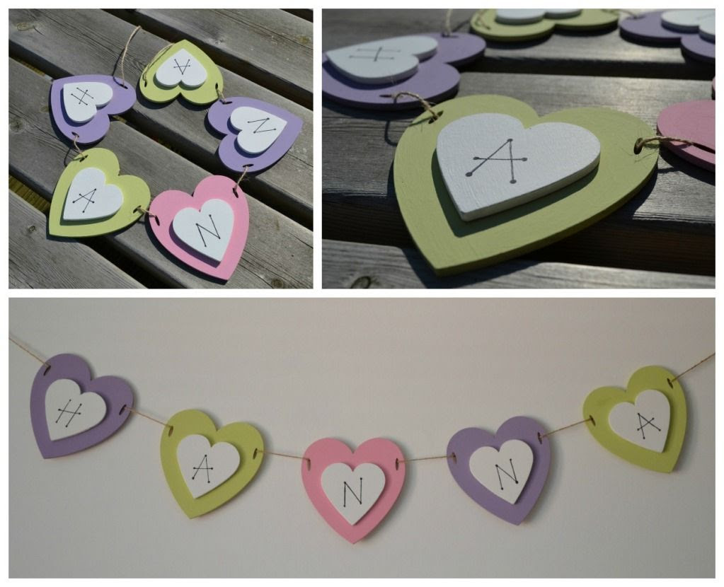The Crazy Kitchen Diy Shabby Chic Wooden Name Bunting